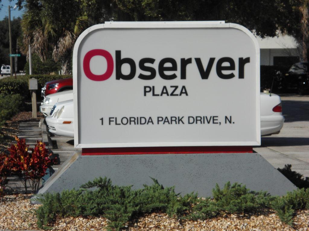 Observer Plaza Sign