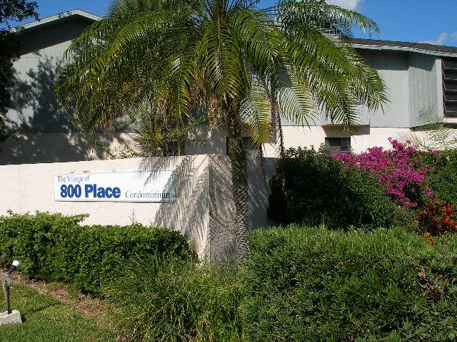 The Village of 800 Place Condominium Sign