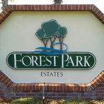 Forest Park Estates Sign