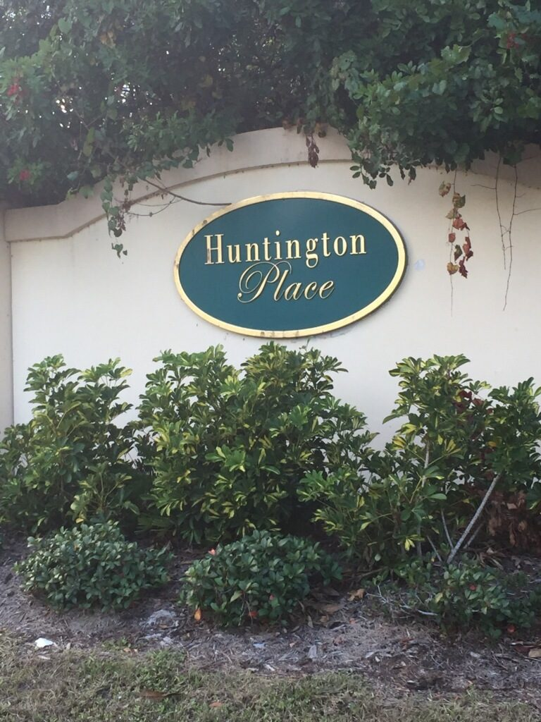 Huntington Place Sign