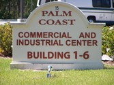 Palm Coast Commercial and Industrial Center Sign