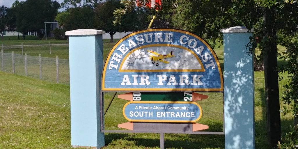 Treasure Coast Air Park Sign