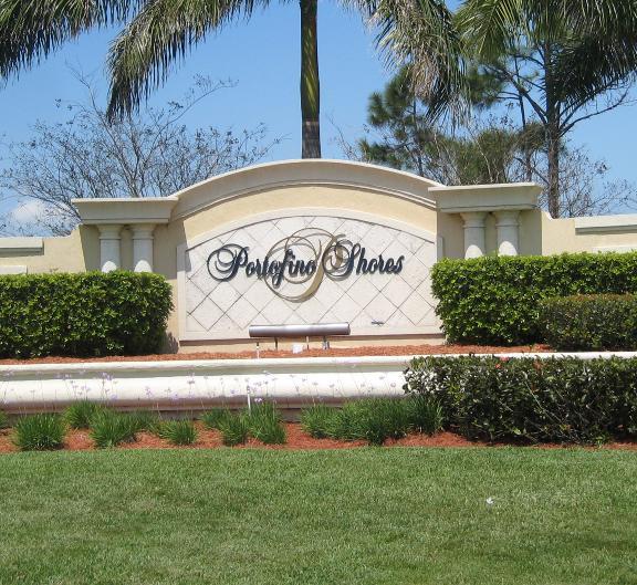 Portofino Shores Sign